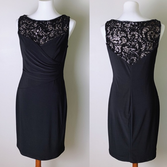 Lauren Ralph Lauren Dresses & Skirts - RALPH LAUREN Sequin Illusion Lace Sheath Dress